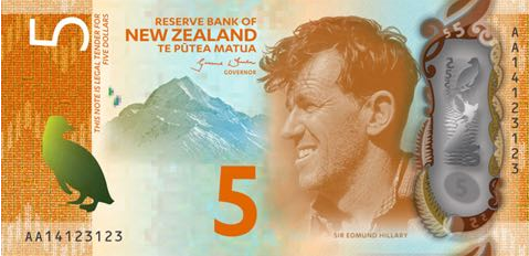 P191 New Zealand 5 Dollars Year 2015